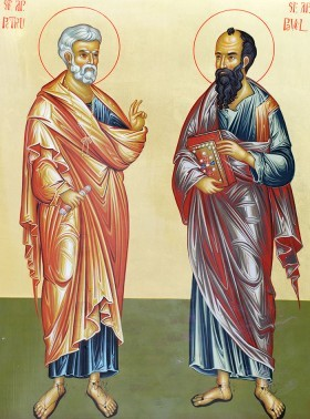 CALENDAR: Astăzi credincioșîi ii sărbătoresc pe sfinții Petru și Pavel