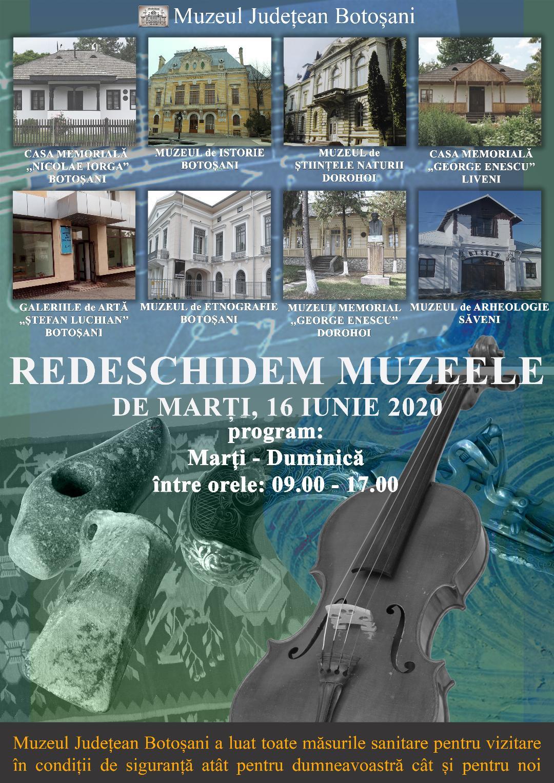 Muzeul Județean Botoșani se redeschide pentru public