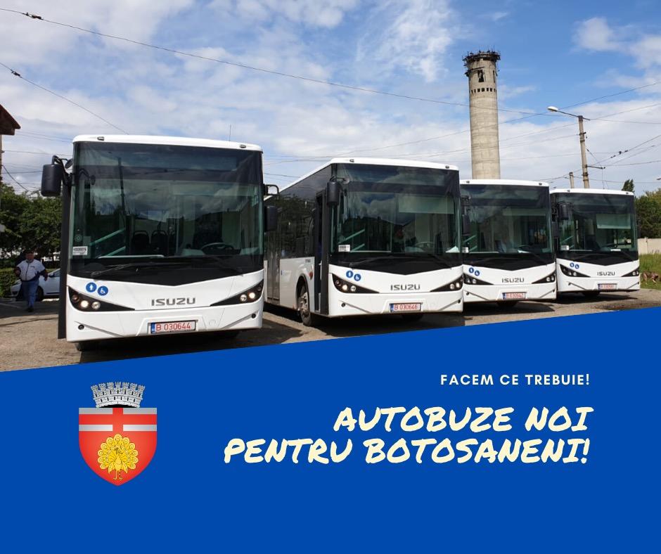 Primele autobuze pentru transportul local de călători au ajuns la Botoșani