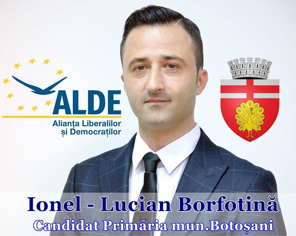 """LUCIAN BORFOTINĂ, candidatul ALDE la Primăria Botoșani:  """"Mă adresez dumneavoastră așa pentru că îmi sunteți dragi, așa cum îmi este orașul acesta"""""""
