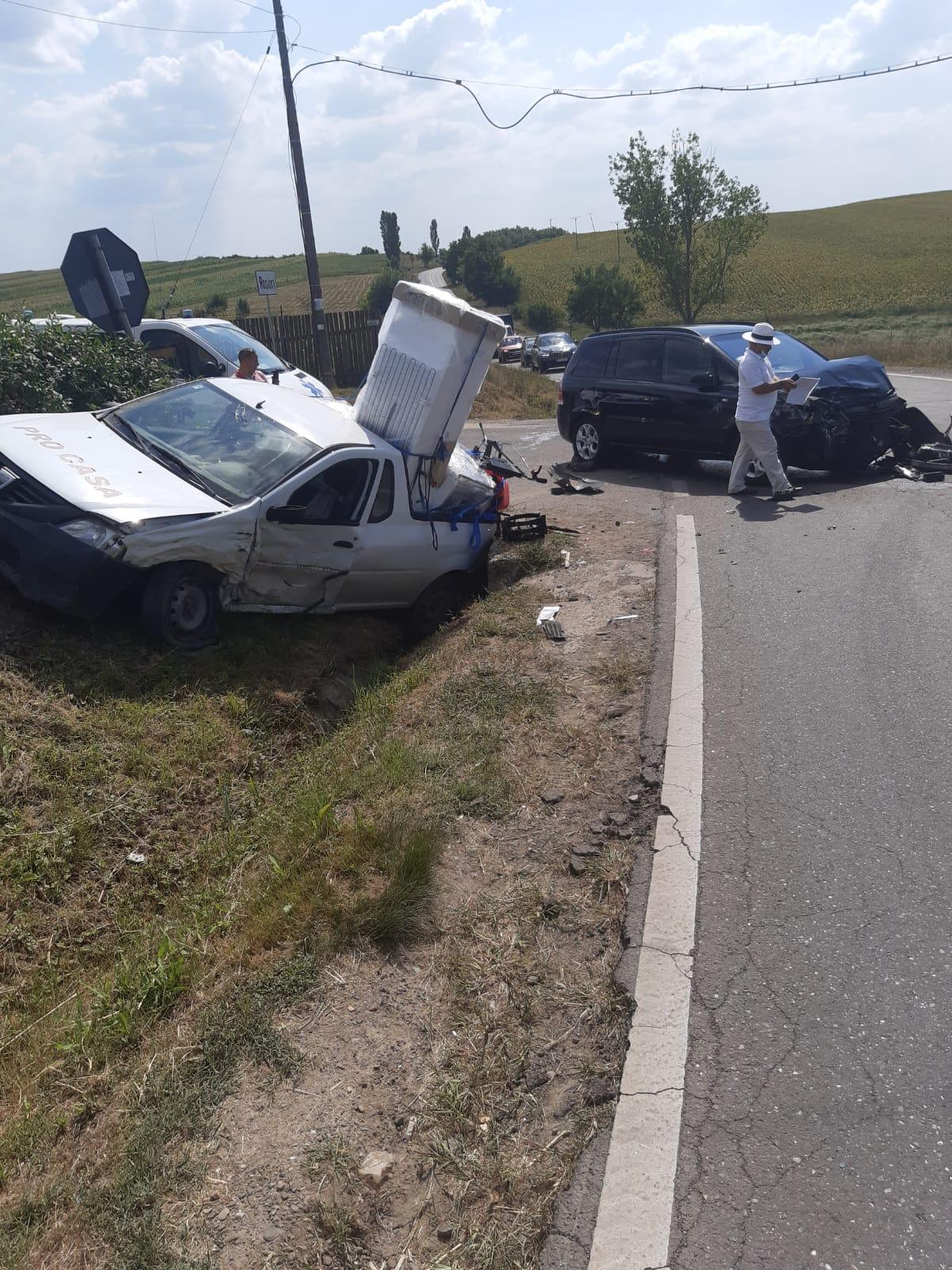 Grav accident la intrarea în Roșiori