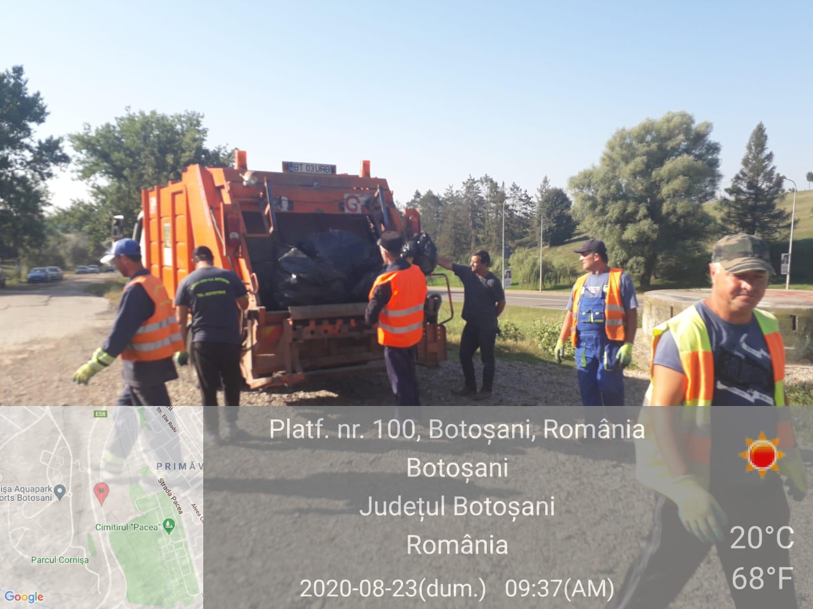 Directorul Urban Serv, Buhăianu a demarat o acțiune de ecologizare totală pentru zona Cornișa și Parcul Curcubeului pentru a nu se polua mediul cu deșeuri