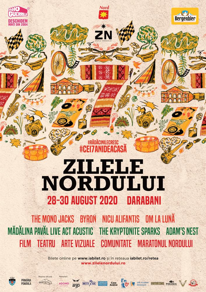#Cei7AniDeAcasă: Festivalul Zilele Nordului începe mâine, 28 august, la Darabani, Botoșani, Pomârla și Ipotești