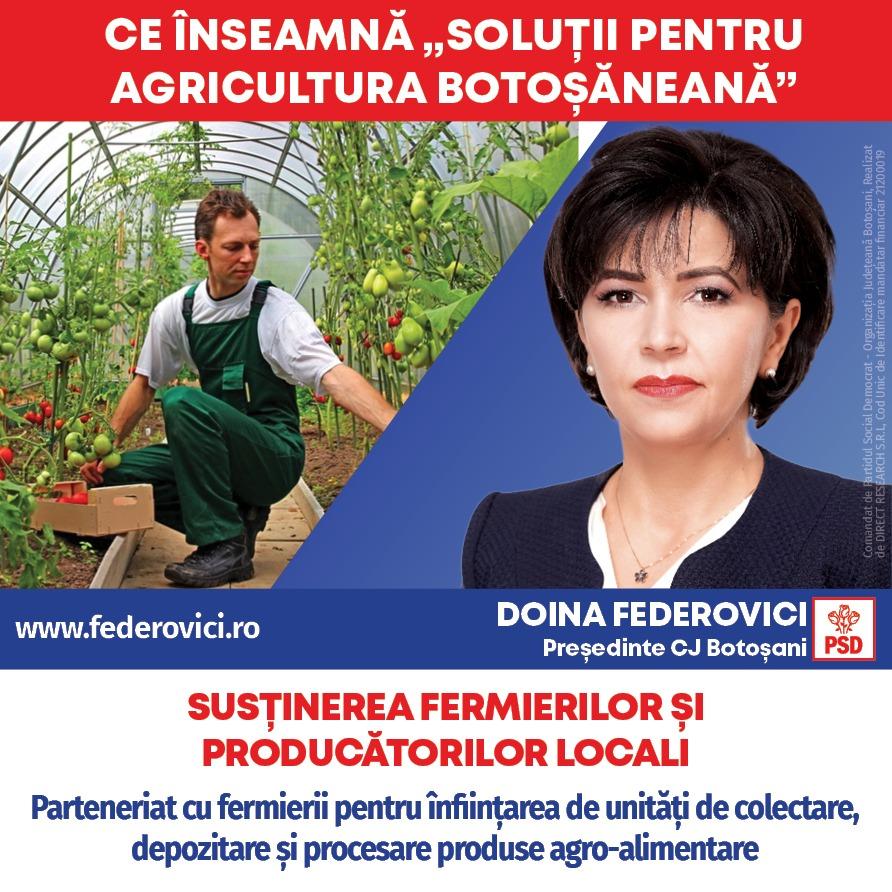 """(P)   Doina Federovici: """"La Consiliul Județean voi fi principalul partener al fermierilor botoșăneni"""""""