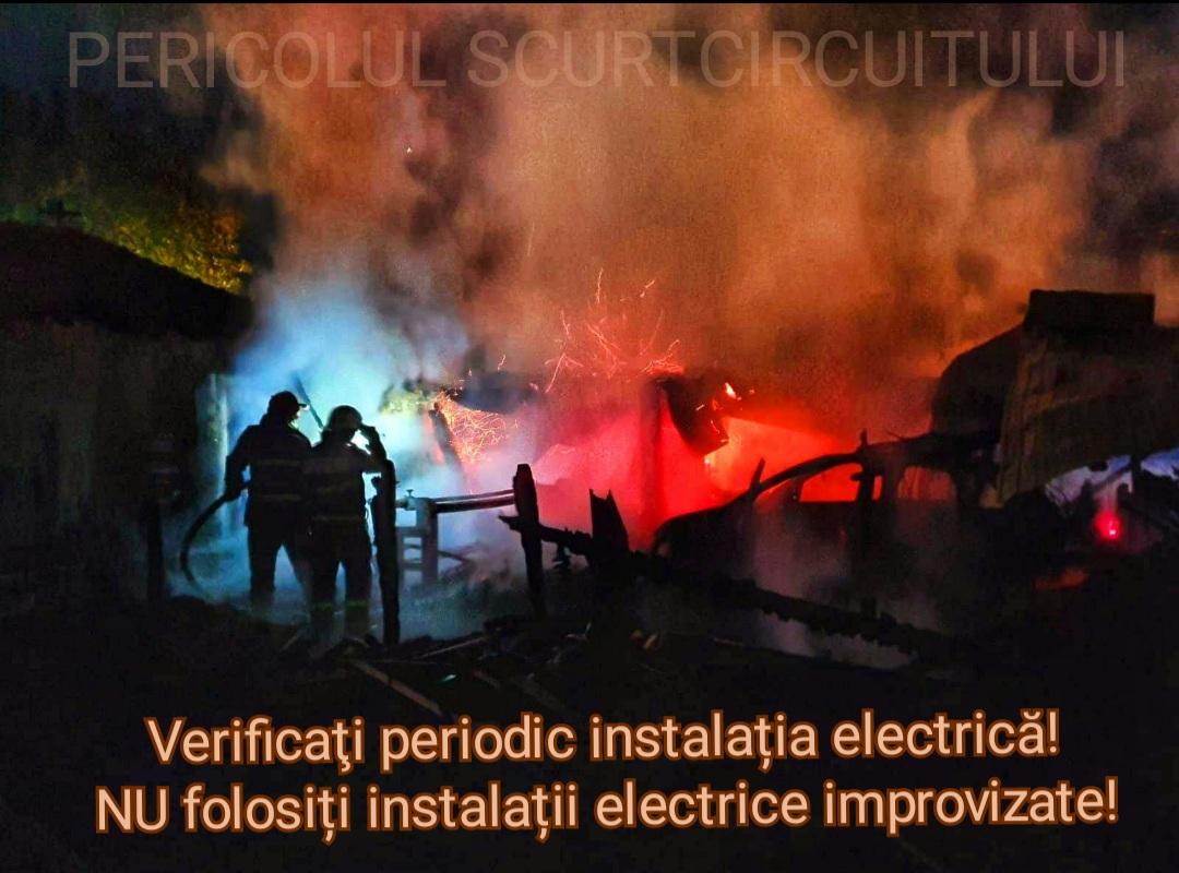 Unul din patru incendii înregistrate fost provocate de instalaţiile defecte şi echipamentele electrice improvizate
