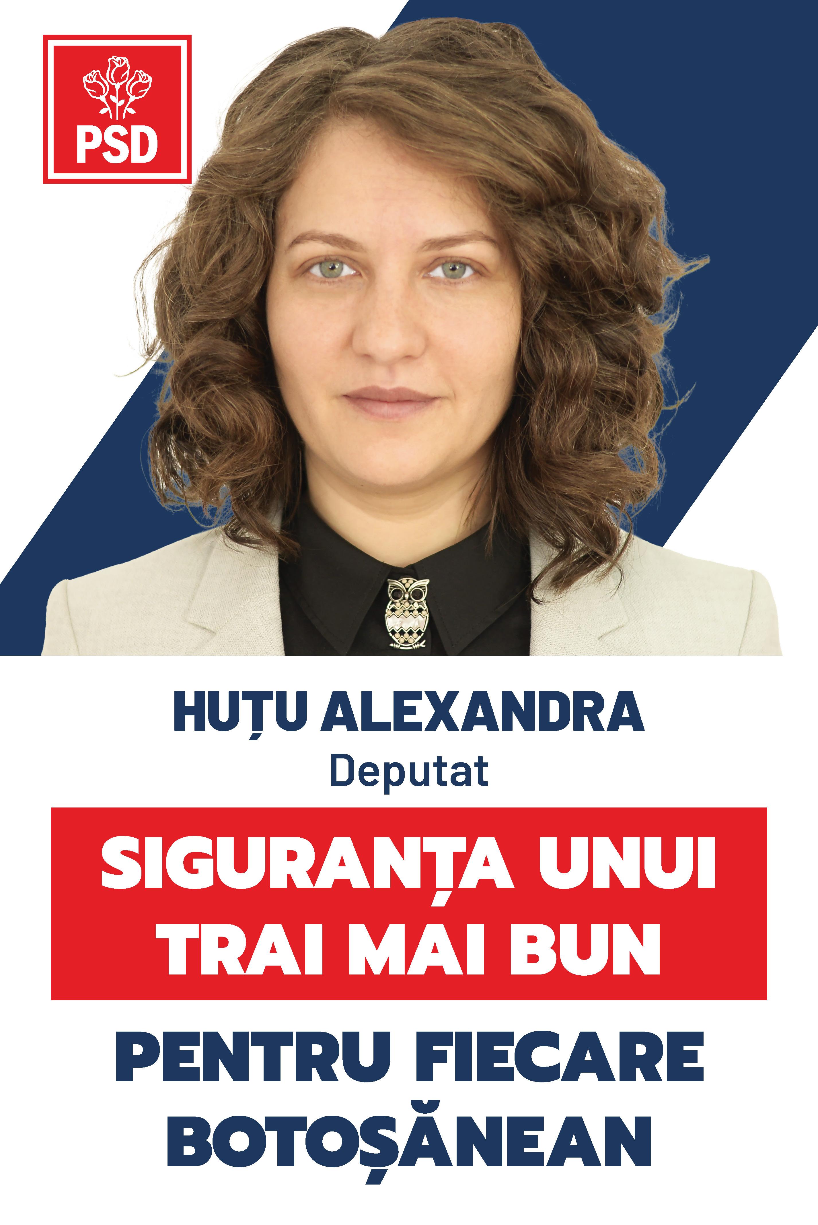 """(P)  Alexandra Huțu, candidat PSD pentru Parlament: """"Prioritatea principală a guvernării social-democrate este asigurarea viitorului tinerilor din România"""""""