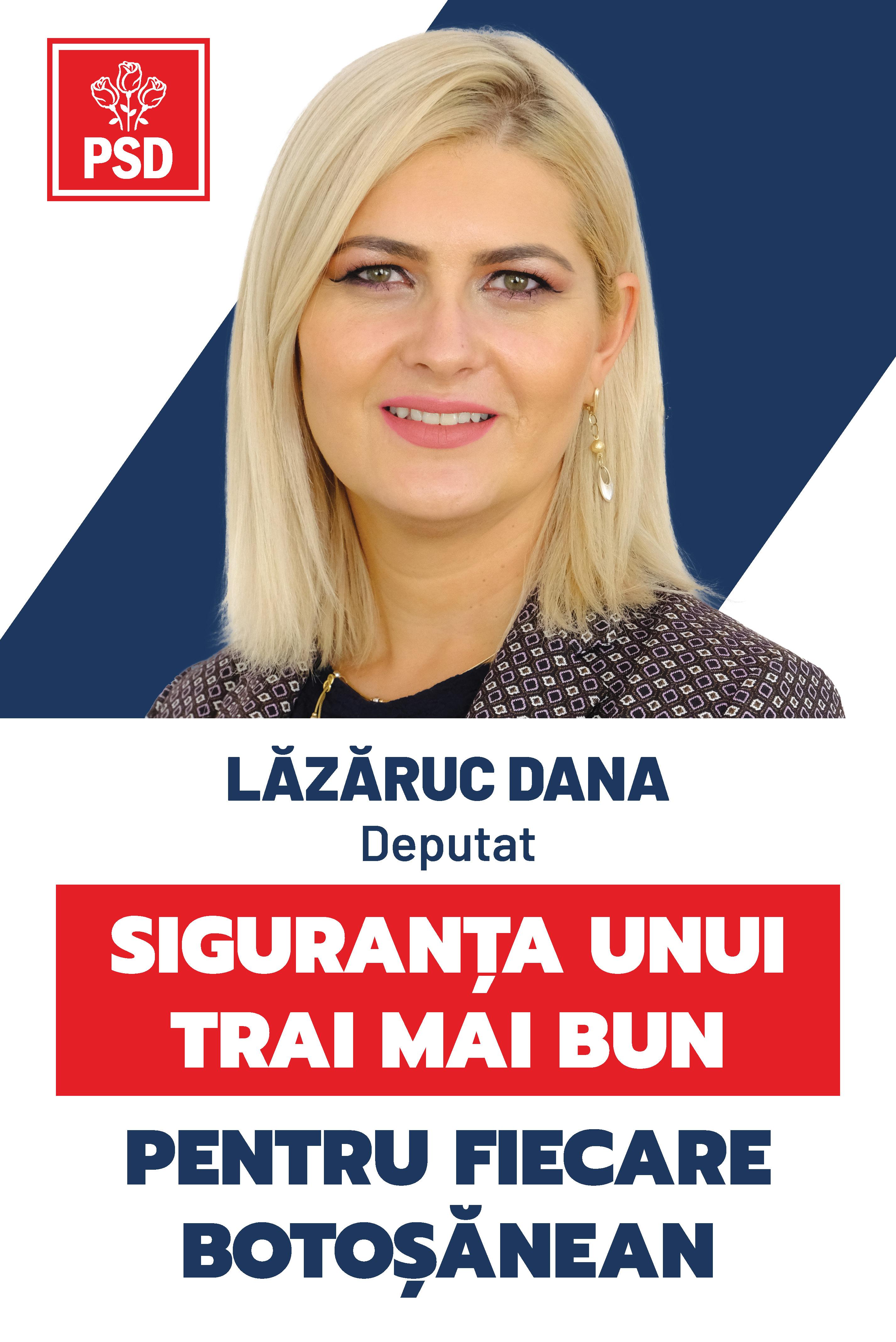 """(P)  Dana Lăzăruc, medic, candidat PSD pentru Parlament: """"Îi rog pe liberali să preia măsurile din Programul de Guvernare al PSD pentru a proteja sănătatea oamenilor"""""""