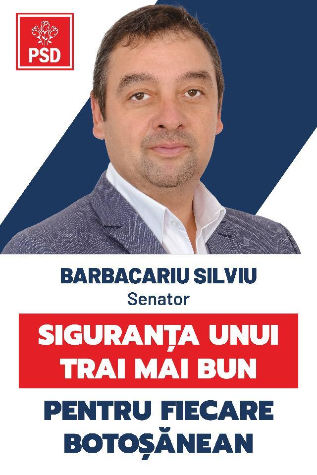 """(P)  Silviu Barbacariu, candidat PSD pentru Senat: """"PSD vine cu un plan de investiții pentru tot ce se fabrică în România, în timp ce PNL la rectificarea bugetară a tăiat investițiile și finanțarea proiectelor europene"""""""