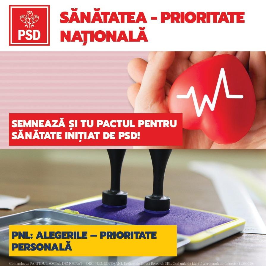 (P)  PSD Botoșani a inițiat PETIȚIA SĂNĂTATEA – PRIORITATE NAȚIONALĂ! Semnează și tu pe site-ul:petitieonline.com/sntatea__prioritate_naional