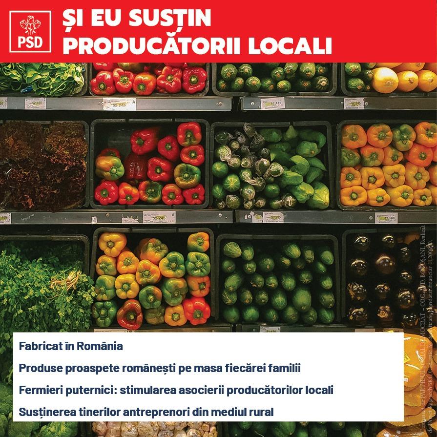 (P)  Guvernarea PSD este singura salvare a producătorilor și fermierilor noștri, este siguranța produselor sănătoase de pe masa românilor!