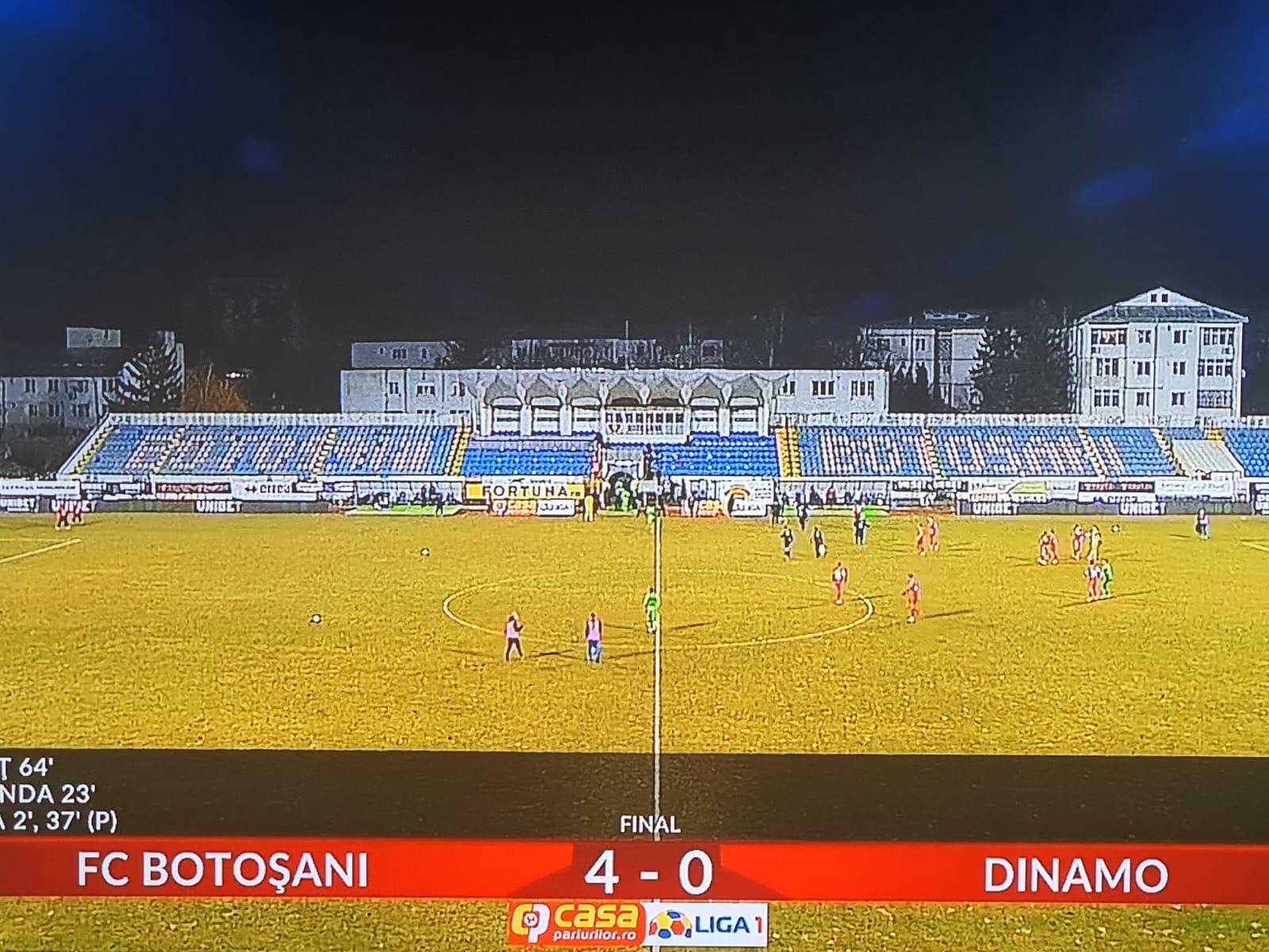 FC BOTOȘANI-DINAMO BUCUREȘTI  4-0. Meci NEBUN făcut de botoșăneni pe MUNICIPAL