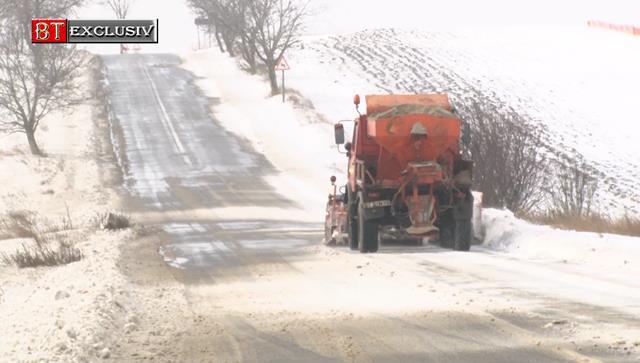 DJ 293, Coțușca – Mileanca, a fost redat traficului rutier, dar se circulă în condiții de iarnă