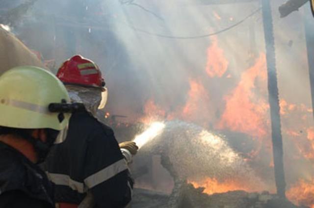 Adăpost de animale distrus de flăcări