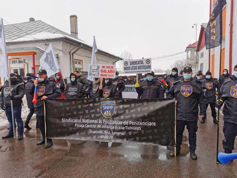 Protest al angajaților de la Penitenciar