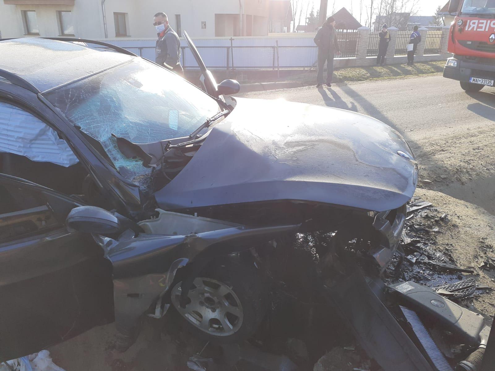 Tânărul care a provocat accidentul rutier de la Gorbanesti a fost reținut