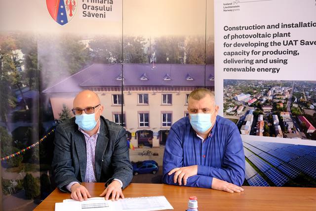 VIDEO/FOTO   Primăria orașului Săveni își va produce singură energia electrică pentru instituțiile publice