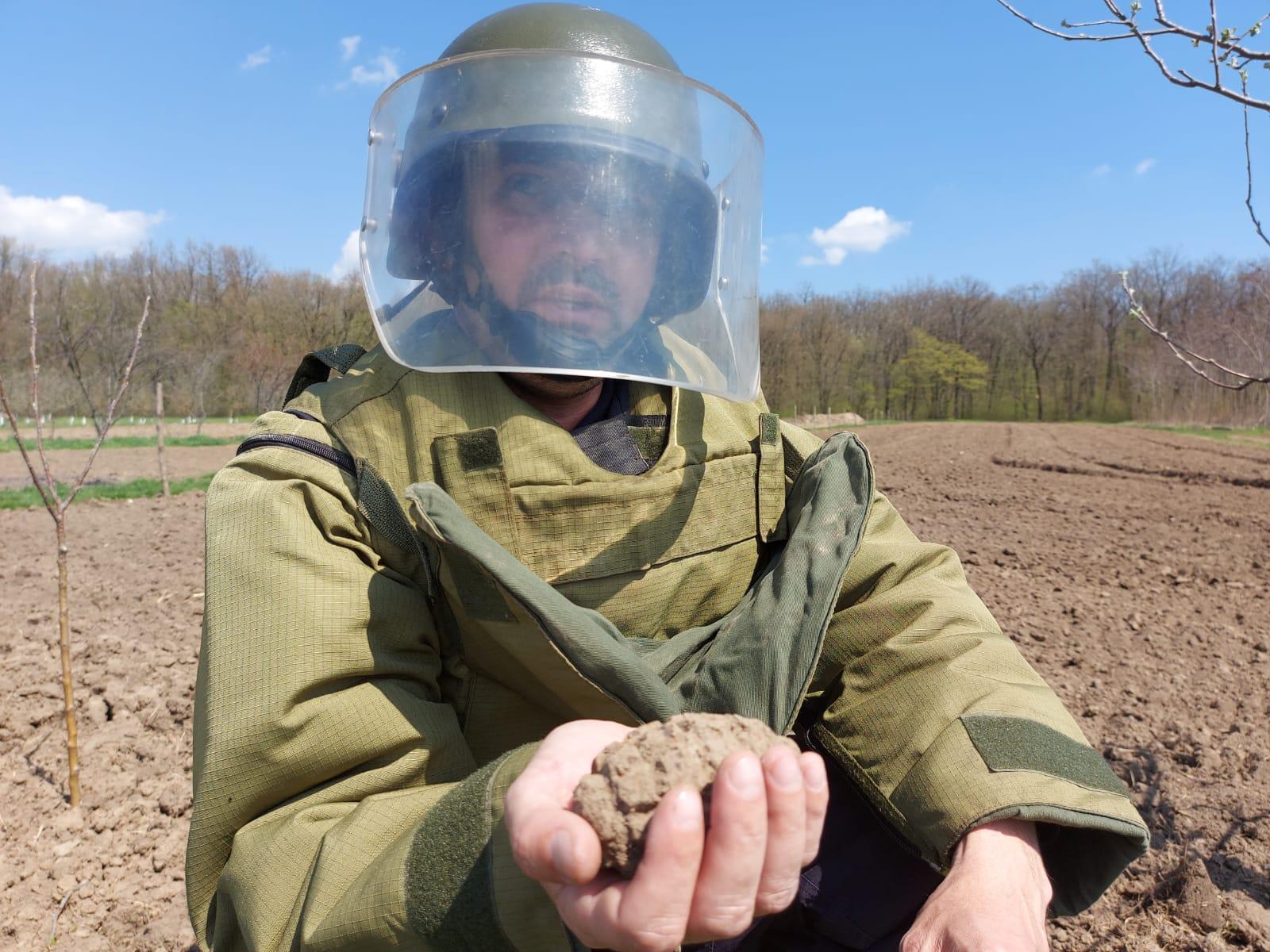 Grenadă descoperită în grădina unui localnic din Guranda