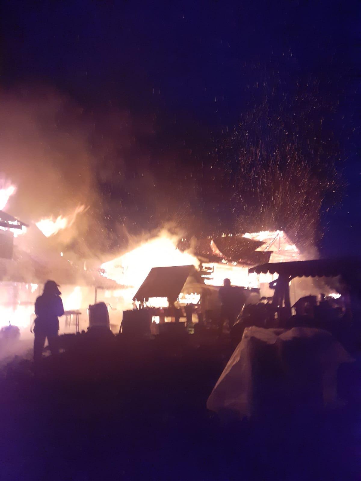 VIDEO/FOTO   Incendiu devastator in localitatea Bodeasa!