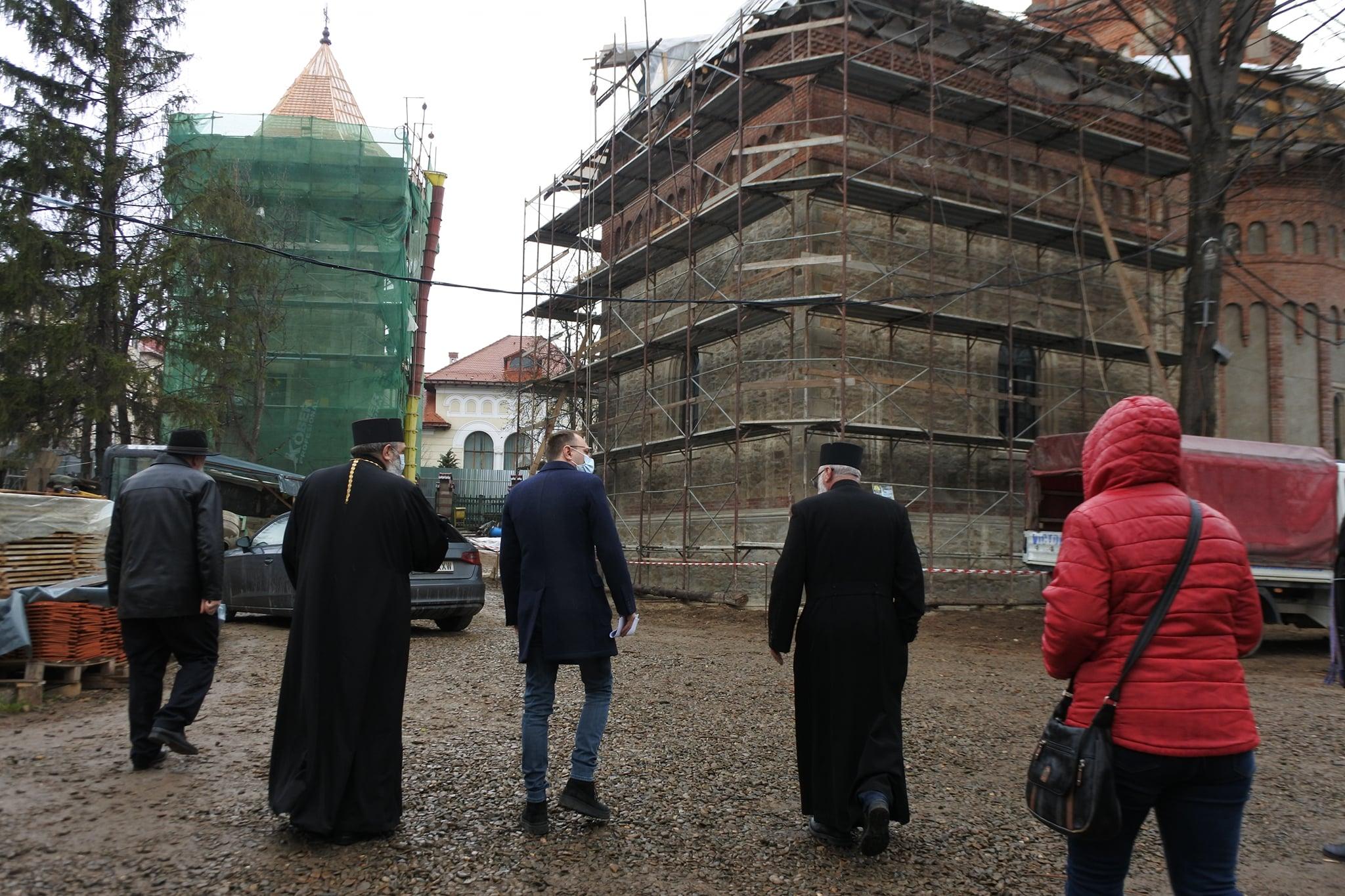 FOTO | Stadiul lucrărilor la Biserica Sf. Gheorghe a ajuns la 50%
