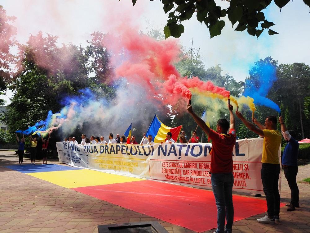 Organizația PSD, alături de botoșăneni de Ziua Drapelului Național