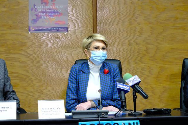Raluca Turcan, se va afla mâine în vizită de lucru în județul Botoșani