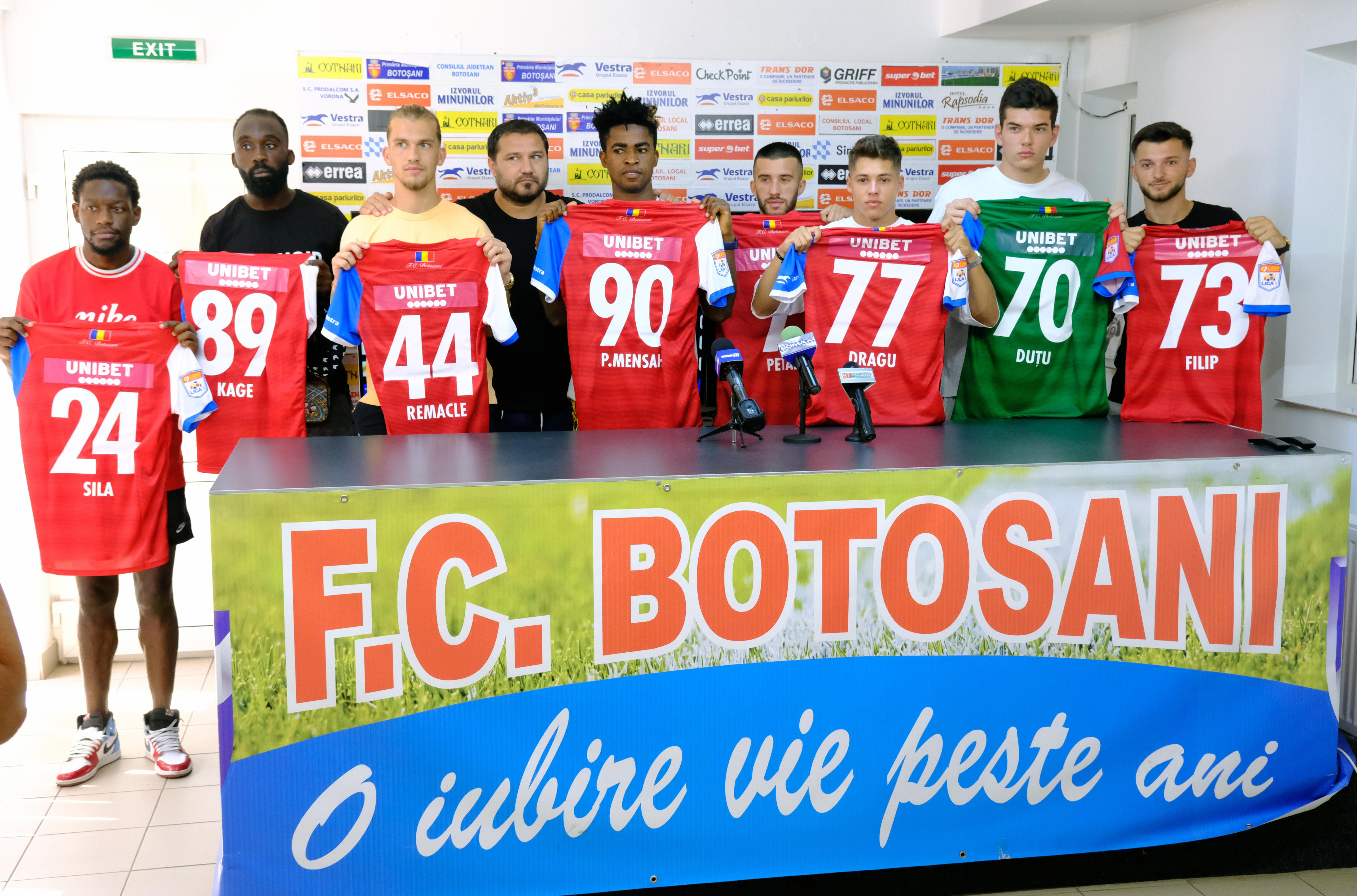 FC Botoșani și-a prezentat noile achiziții cu care va aborda noul sezon fotbalistic