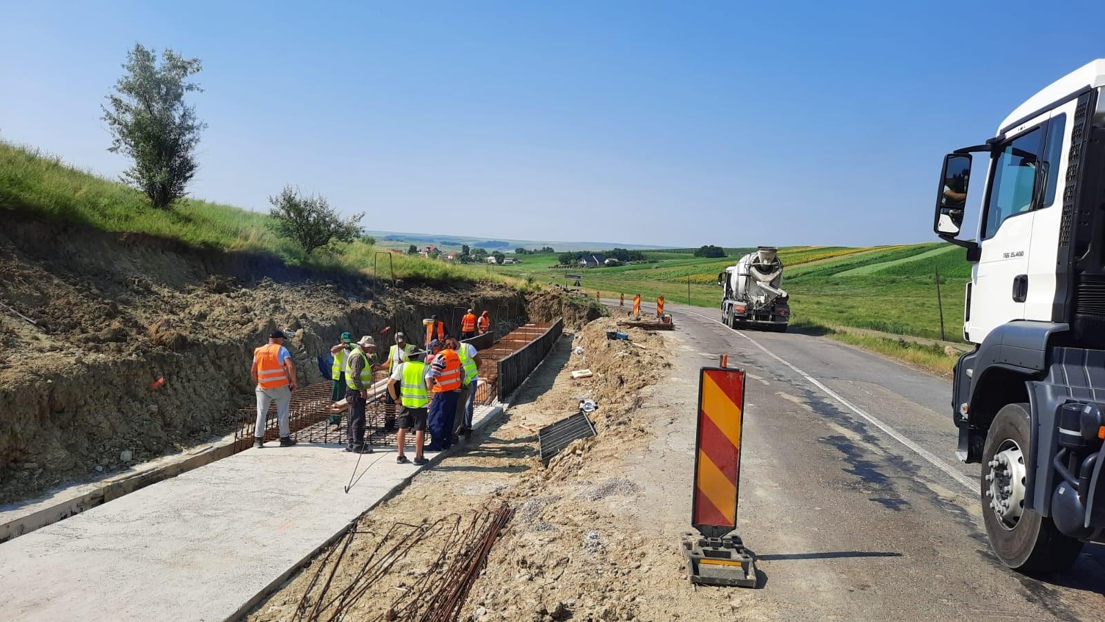 Lucrări de modernizare și supralărgire pe drumul Botoșani-Ștefănești
