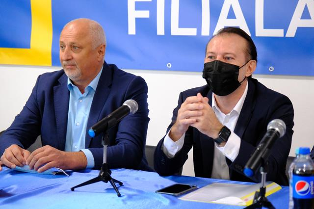 Florin Cîțu a venit la Botoșani pentru a-și prezenta moțiunea prin care candidează la șefia PNL