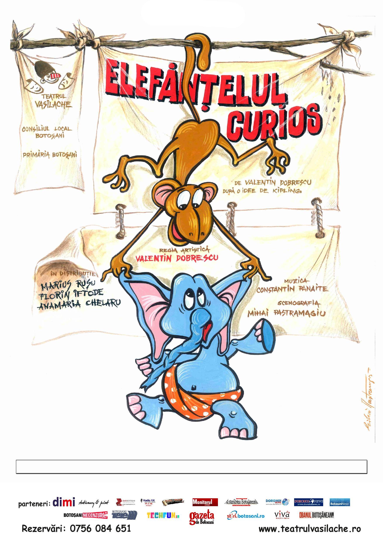 """Dodo, """"Elefănţelul curios"""" pe scena Teatrului Vasilache"""