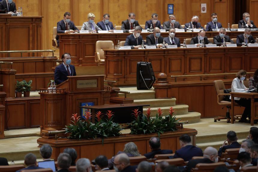 Guvernul CIȚU a căzut. Moțiunea de cenzură a trecut cu 281 de voturi